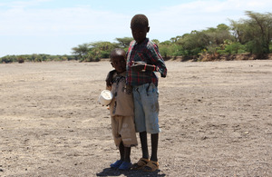 Two children stand in a dry riverbed. Picture: Marisol Grandon/DFID