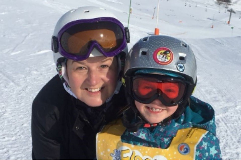 Lieutenant Sally Ashlin with her son.