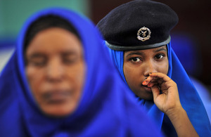 Photograph of Somali police officers
