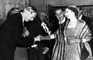 The Queen and Anthony Eden