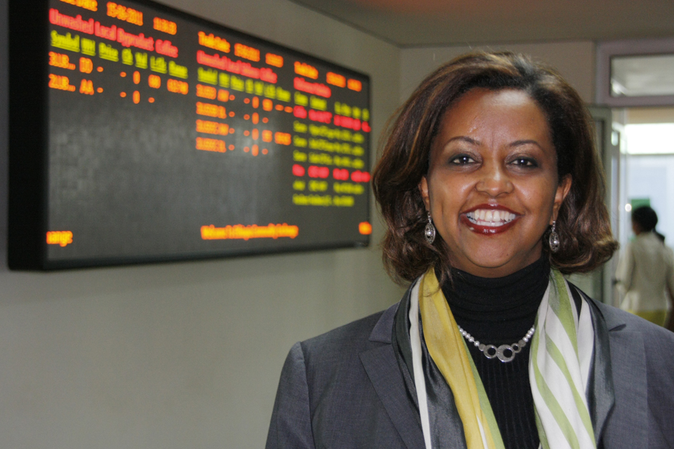 Dr Eleni Gabre-Madhin, CEO of the Ethiopia Commodity Exchange. Picture: Pete Lewis/DFID