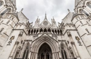 Frontage of Royal Courts of Justice