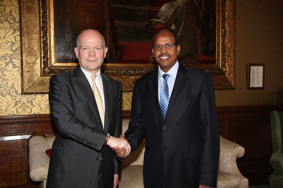Foreign Secretary William Hague and Foreign Minister Mahmoud Ali Youssouf of Djibouti