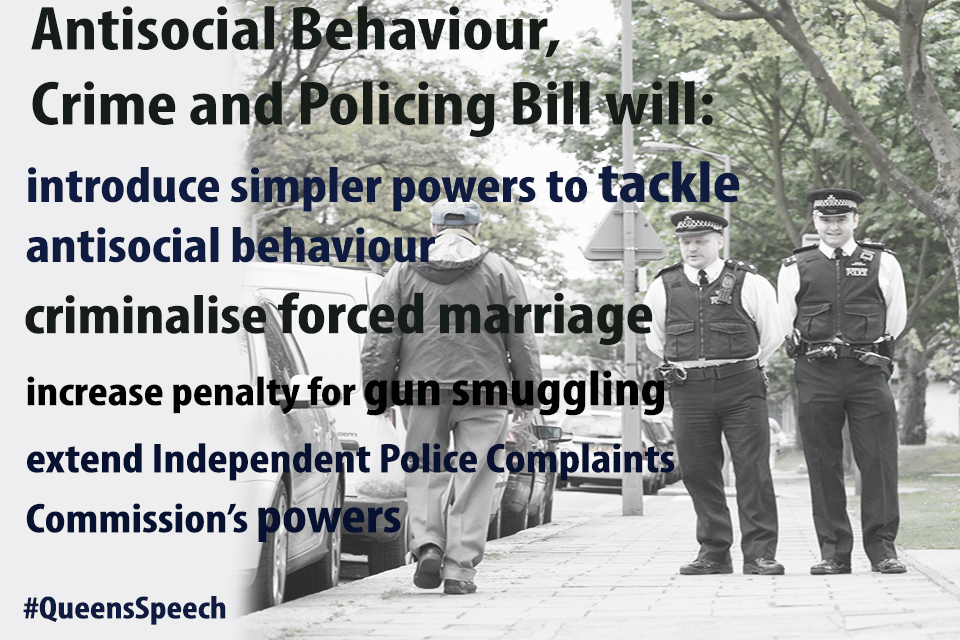 Antisocial Behaviour, Crime and Policing Bill