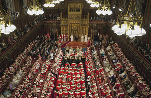 Her Majesty The Queen delivers her speech in the House of Lords (library image) [Picture: Crown copyright]