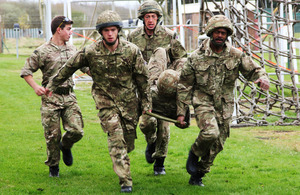 A team of reservists takes part in Exercise Altcar Challenge [Picture: Crown copyright]
