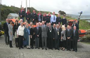 HRH The Duke of Kent with members of the RNLI