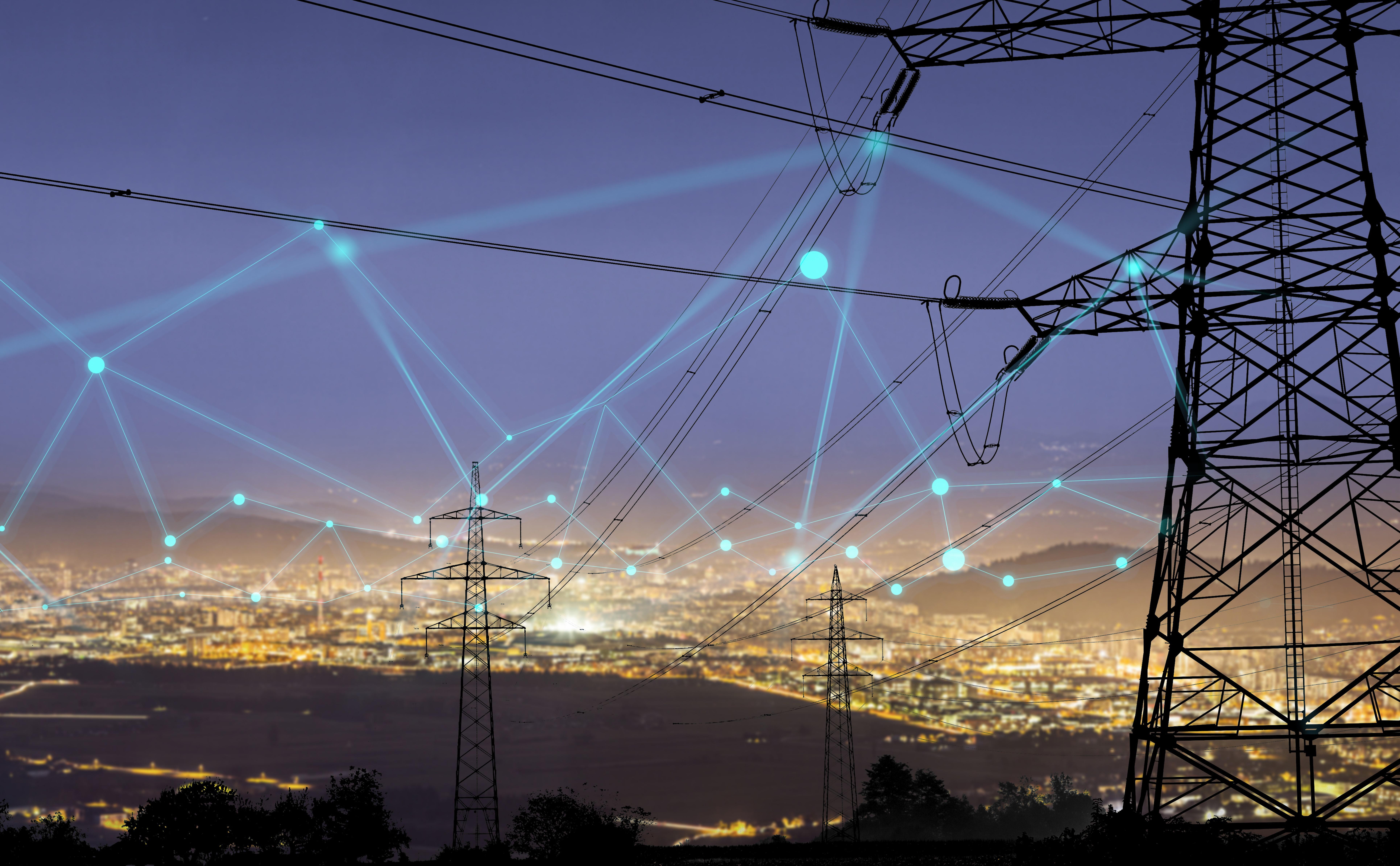 Photo of energy pylons