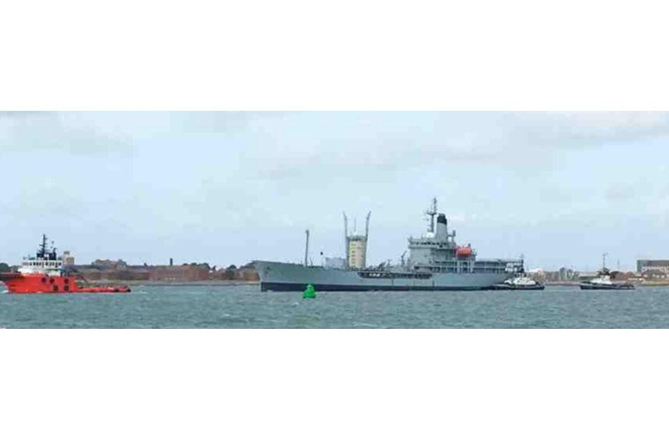 Black Rover at sea sailing to the recycling yard.