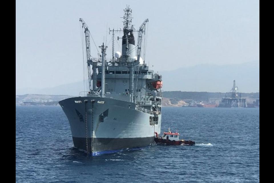 Black Rover at sea nearing Turkey.