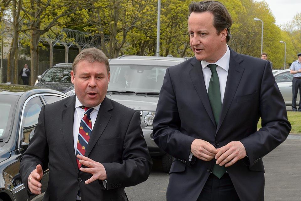 David Cameron chats with Mark Francois