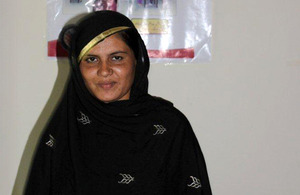 Kausar, 25, will vote for the first time in the elections. Picture: DFID Pakistan
