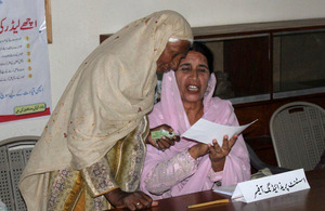 Mock voting exercises are a simple and effective way of educating women about how to cast their votes. Picture: DFID Pakistan