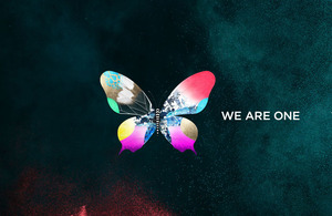 We are one poster with butterfly Credits: EBU/Respective broadcasters