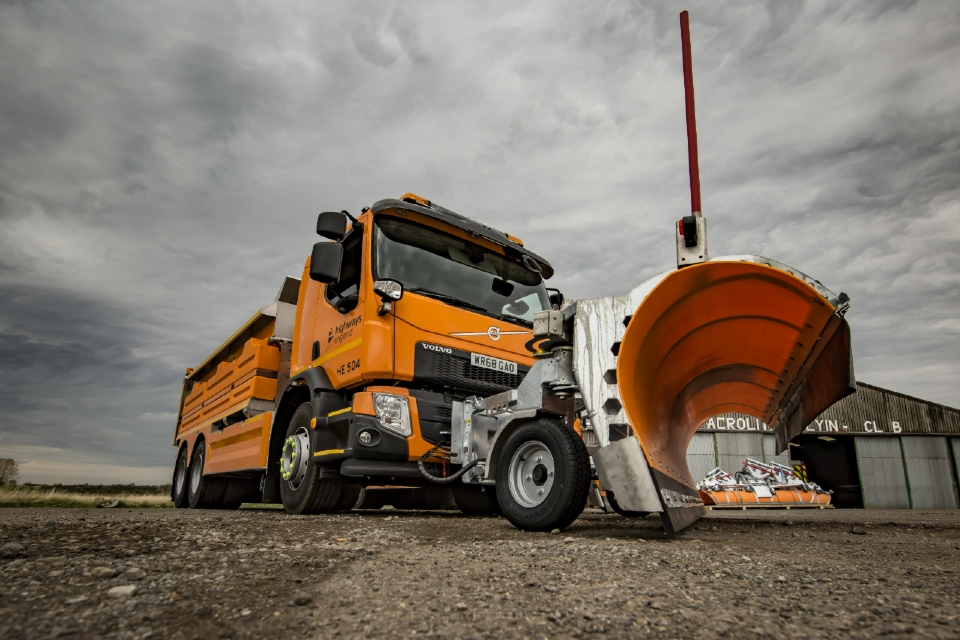 New state of the art Highways England gritter vehicle
