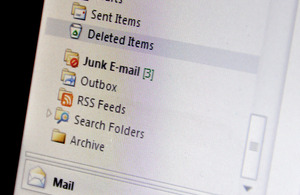 Junk mail box on email client