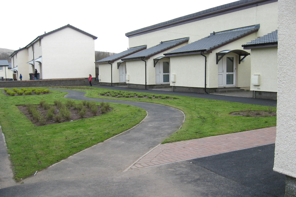 The improved Service family accommodation in Helensburgh
