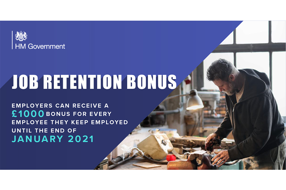 New guidance on £9 billion Job Retention Bonus, set to benefit millions of  businesses - GOV.UK