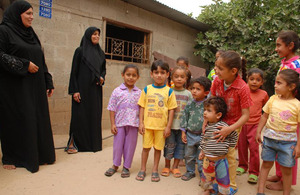 Nariman and Reem have enough food to feed their children. Picture: Karl Schembri/Oxfam