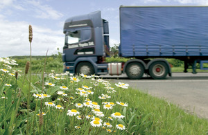 Lorry on a road