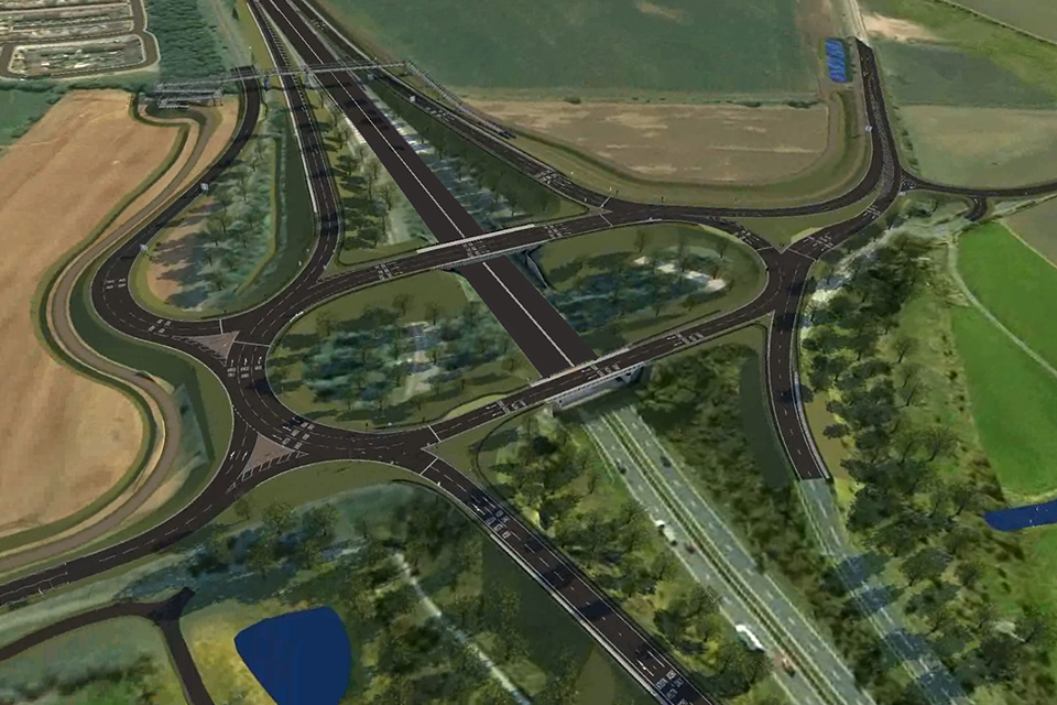 Visualisation of what the Downhill Lane junction will look like after the upgrade