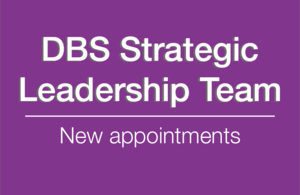 Decorative graphic that reads: Strategic Leadership Team, new appointments