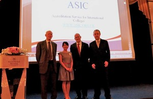 British Embassy Bangkok supports ASIC on university accreditation in Thailand.
