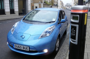 Electric car and charging point