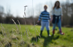 Children walking outdoors