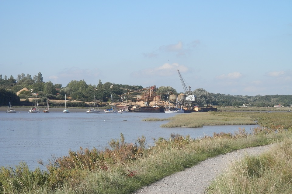 Views across the River Colne to Ballast Quay, Fingringhoe.