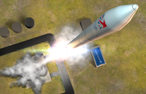 Artist's impression of Lockheed Martin rocket in flight