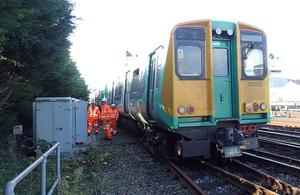 The train following the derailment