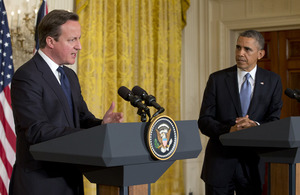 Prime Minister and President Obama. Credit: Press Association