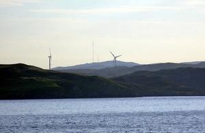 Wind turbines on Lewis