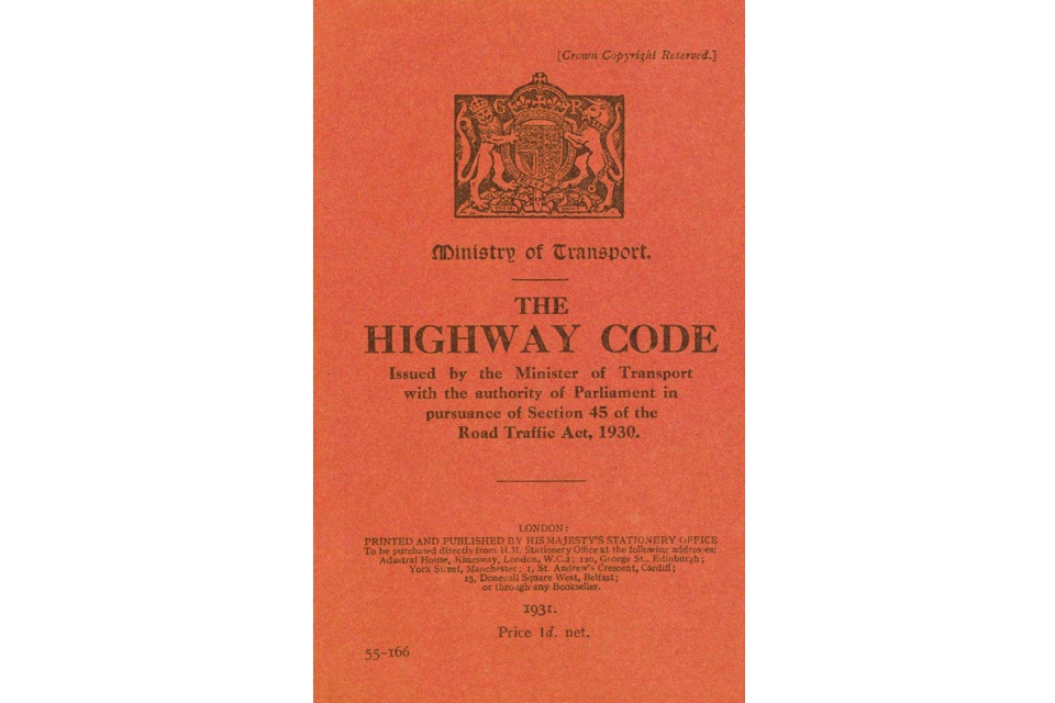 The Highway Code first edition