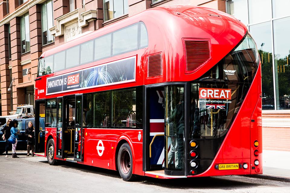 The GREAT Global Bus in New York. Photo by Masha Maltsava, Milk Studios.