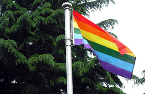 Flying the rainbow flag for IDAHO