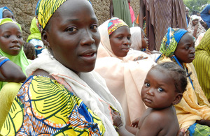 A woman attends a health education session in northern Nigeria. Picture: Susan Elden/DFID