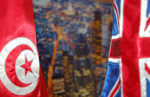 UK and Tunisia flags
