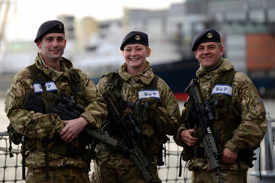 Members of HMS Edinburgh's force protection team