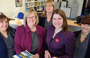 Jo Swinson with female business leaders