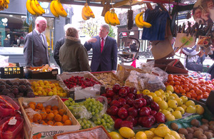 Mark Prisk at the launch of Love Your Local Market 2013