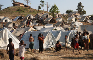 Taung Paw camp for displaced people, Rakhine State, Burma. Picture: DFID