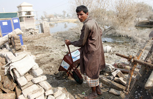 Clearing rubble in Sindh province, Pakistan. Picture: Russell Watkins/DFID