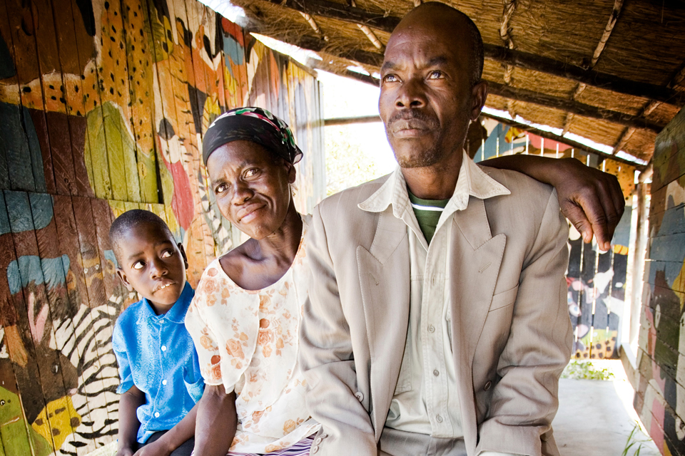 Claris and Pitiel Chauruka with their son Tatenda. Picture: The Elizabeth Glaser Pediatric AIDS Foundation