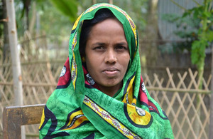 No longer hungry: Honufa is proud of her achievements. Picture: Chars Livelihood Programme
