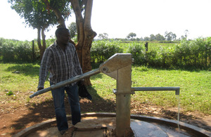 A water pump, Wagwer Primary, Western Kenya. Picture: Moving Mountains Trust/ Flickr