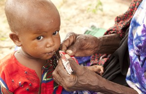 2 year-old Achtor is severely malnourished. She and her grandmother, from drought-stricken western Chad, live in poverty and struggle to get enough food. Picture:  S. Hauenstein Swan / Action Against Hunger. Used with permission