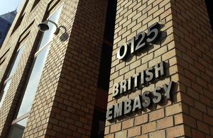 Building of the British Embassy in Santiago.