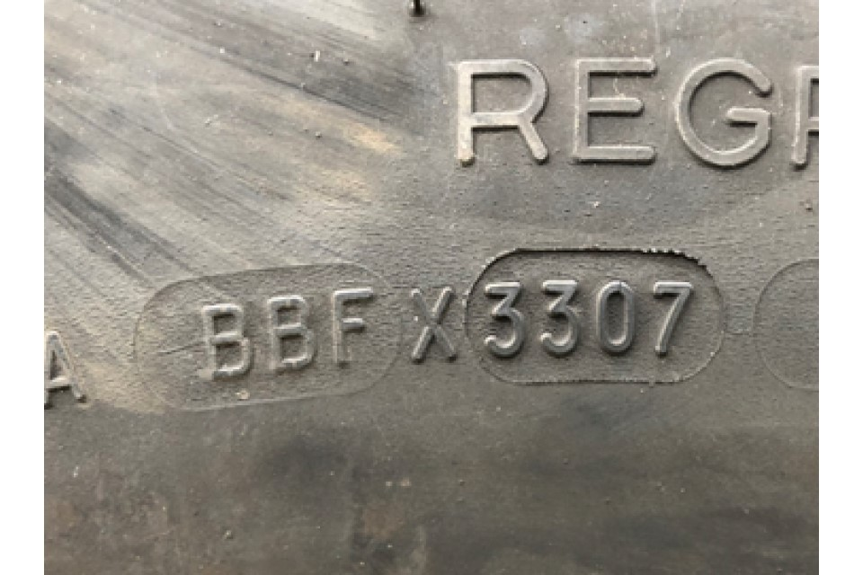 Tyre age code 3307 fitted to HGV front-steered axle